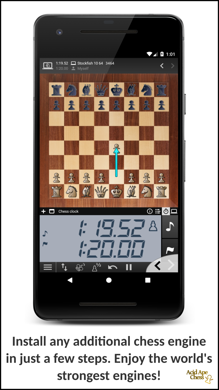Install any additional chess engine in just a few steps. Enjoy the world's strongest engines!